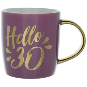 Candlelight Hello 30 Birthday Mug in Gift Box
