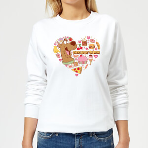 Scooby Doo Snacks Are My Valentine Women's Sweatshirt - White