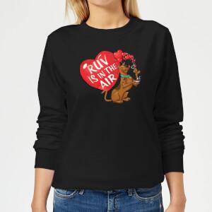 Scooby Doo Ruv Is In The Air Women's Sweatshirt - Black