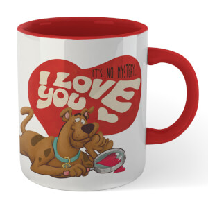 Scooby Doo It's No Mystery I Love You Mug - White/Red