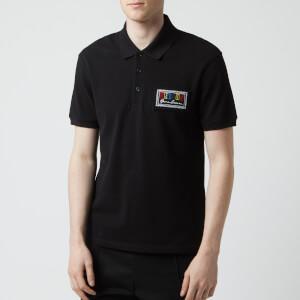 Versus Versace Men's Box Logo Polo Shirt - Black