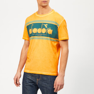 Diadora Men's Spectra Used Short Sleeve T-Shirt - Orange Mustard
