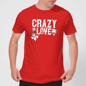 Batman Crazy In Love Men's T-Shirt - Red