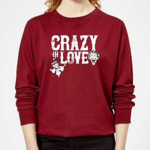Batman Crazy In Love Women's Sweatshirt - Burgundy