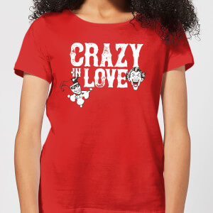 Batman Crazy In Love Women's T-Shirt - Red
