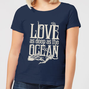 Aquaman Love As Deep As The Ocean Women's T-Shirt - Navy