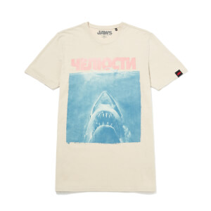 Global Legacy Jaws Russian T-Shirt - White Vintage Wash