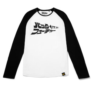 Global Legacy Back To The Future Kana Raglan Long Sleeve T-Shirt - White/Black