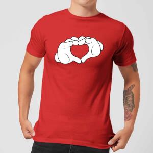 T-Shirt Disney Topolino Heart Hands - Rosso - Uomo