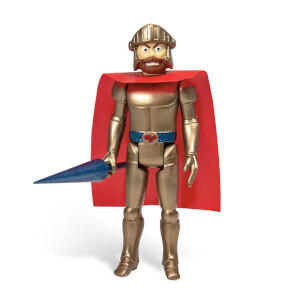 Super7 Ghosts 'n Goblins ReAction Action Figure Magic Armor Arthur (Gold) 10 cm