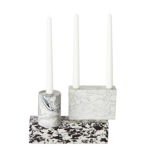 Tom Dixon Swirl Black & White Candelabra