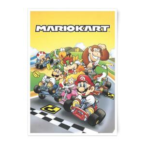 Nintendo Retro Mario Kart Art Print