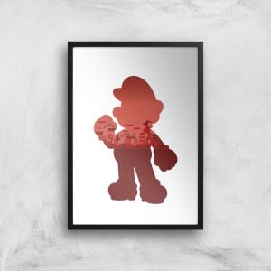 Nintendo Super Mario Silhouette Art Print