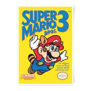 Nintendo Super Mario Bros 3 Art Print