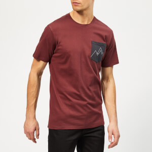 Haglofs Men's Mirth Short Sleeve T-Shirt - Maroon Red/Slate