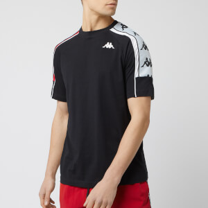 Kappa Men's Banda 10 Arset Short Sleeve T-Shirt - Black/Red/White