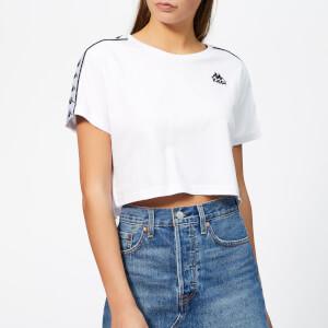 Kappa Women's Banda Apua Cropped Short Sleeve T-Shirt - White