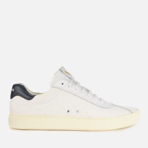 Polo Ralph Lauren Men's Court 100 Lux Canvas Trainers - White/Newport Navy