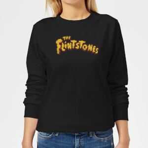 The Flintstones Logo Women's Sweatshirt - Black