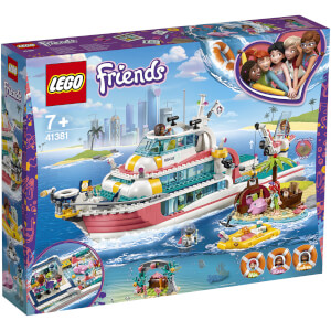 LEGO Friends: Rescue Mission Boat Toy Sea Life Set (41381)