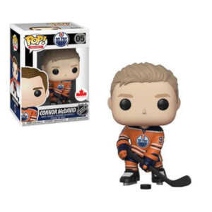 NHL Oilers Connor McDavid Orange Jersey EXC Pop! Vinyl Figure