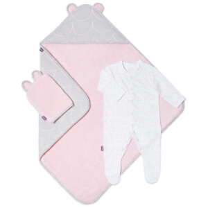Snüz Baby Bath and Bed Gift Set - Wave Rose