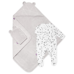 Snüz Baby Bath and Bed Gift Set - Geo Mono