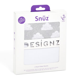 Snüz Bedside Crib 2 Pack Fitted Sheets - Cloud Nine
