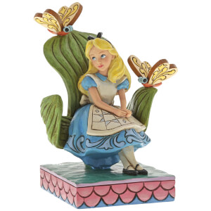 Curiouser and Curiouser, Figurine Alice au pays des merveilles (14 cm) – Disney Traditions