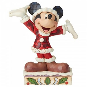 Disney Traditions Tis a Splendid Season (Mickey Mouse Christmas Figurine)