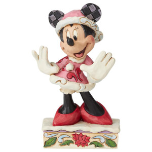 Disney Traditions Festive Fashionista (Minnie Mouse Christmas Figurine)