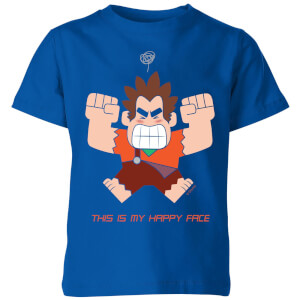 Wreck-it Ralph This Is My Happy Face Kinder T-Shirt - Blau Royal
