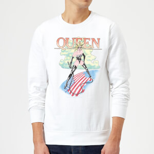 Queen Vintage Tour Sweatshirt - White