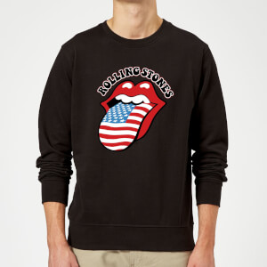 Rolling Stones US Flag Sweatshirt - Black