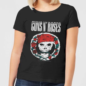Guns N Roses Circle Skull Damen T-Shirt - Schwarz