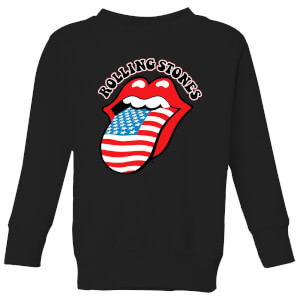 Rolling Stones US Flag Kids' Sweatshirt - Black
