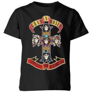 Guns N Roses Appetite For Destruction Kinder T-Shirt - Schwarz