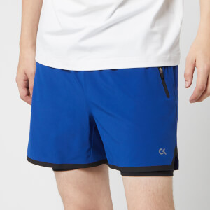 Calvin Klein Performance Men's 2-in-1 Shorts - Sodalite Blue