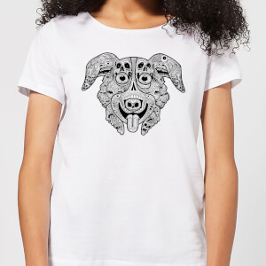 Mr Pickles Pattern Face Women's T-Shirt - White