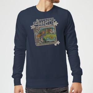 Scooby Doo Mystery Machine Psychedelic Sweatshirt - Navy