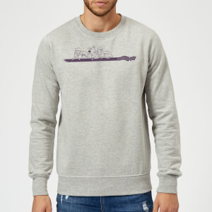Scooby Doo Those Meddling Kids Retro Sweatshirt - Grey