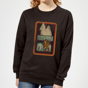 Scooby Doo Retro Ghostie Women's Sweatshirt - Black