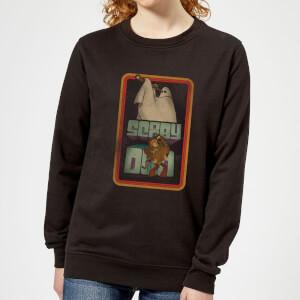Scooby Doo Retro Ghostie Women's Sweatshirt - Black