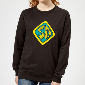 Scooby Doo Emblem Women's Sweatshirt - Black