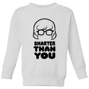 Scooby Doo Smarter Than You Kids' Sweatshirt - White