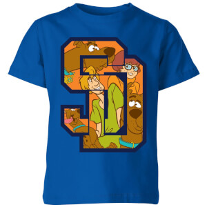 Scooby Doo Collegiate Kids' T-Shirt - Royal Blue