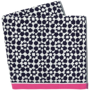 Joules Tile Geo Beach Towels - French Navy