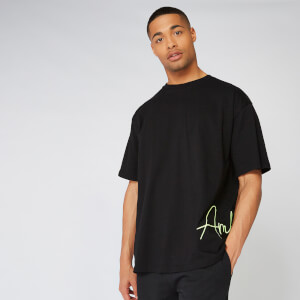 Neon Signature Oversized T-Shirt - Black
