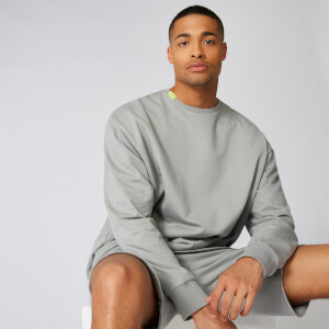 Neon Signature Oversized Crew Sweat - Grey
