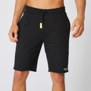 Neon Signature Sweat Shorts - Black